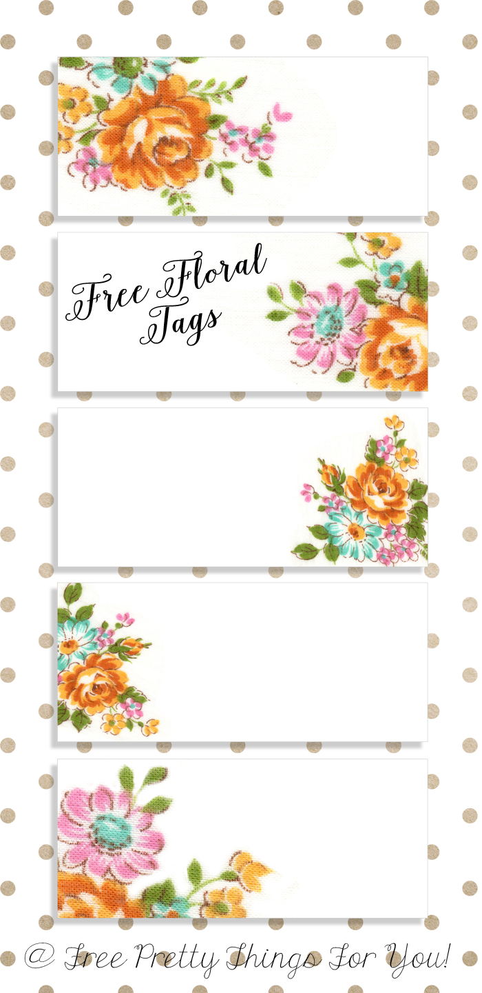 Labels: Pretty Floral Vintagetags | Best Free Digital Goods | Gift - Free Printable Name Tags