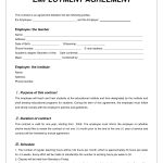 Labor Contract Template   Invitation Templates   Employment   Free Printable Employment Contracts