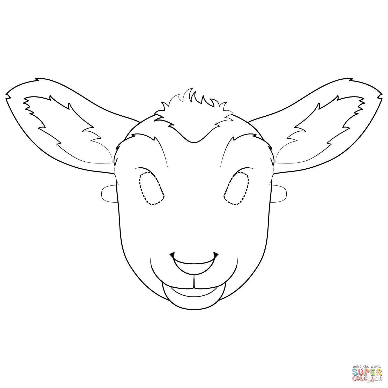 Lamb Mask Coloring Page | Free Printable Coloring Pages - Free Printable Sheep Mask