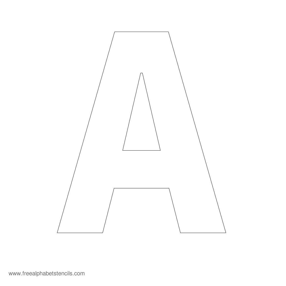 Large Alphabet Stencils   Freealphabetstencils - Free Printable Alphabet Stencils To Cut Out