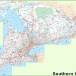 Large Detailed Map Of Southern Ontario   Free Printable Map Of Ontario