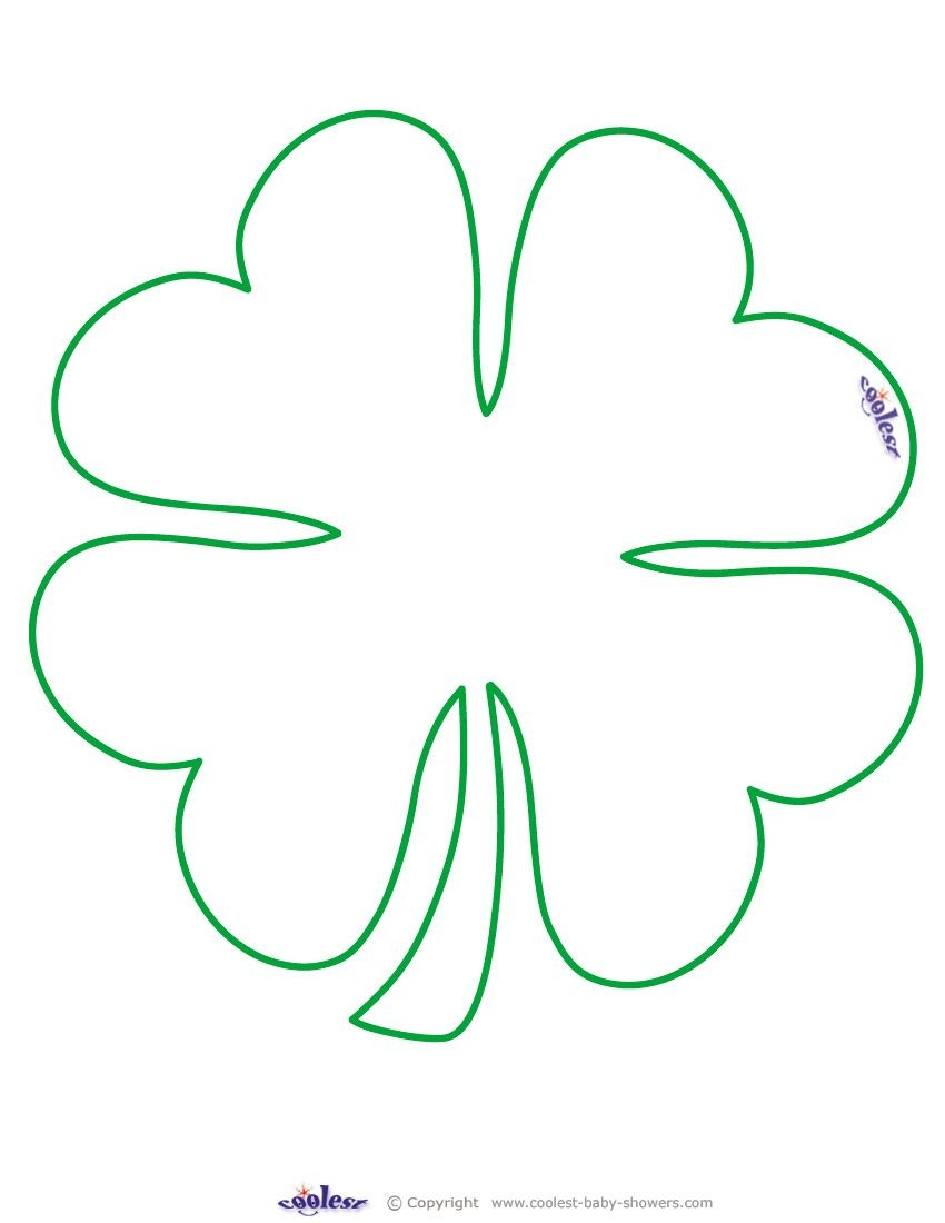 Large Printable Clover Coolest Free Printables …   Tattoo Canvas - Free Printable Shamrock Cutouts
