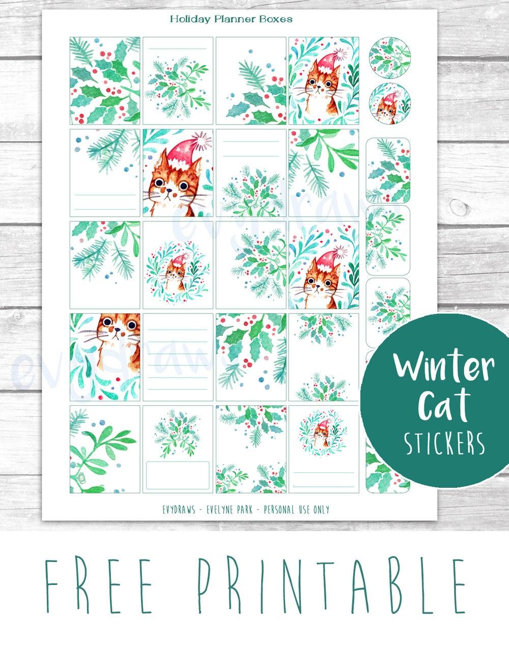 Last-Minute Diy: Free Printable Gift Tags, Stickers & Cards — Evydraws - Free Printable Mistletoe Tags