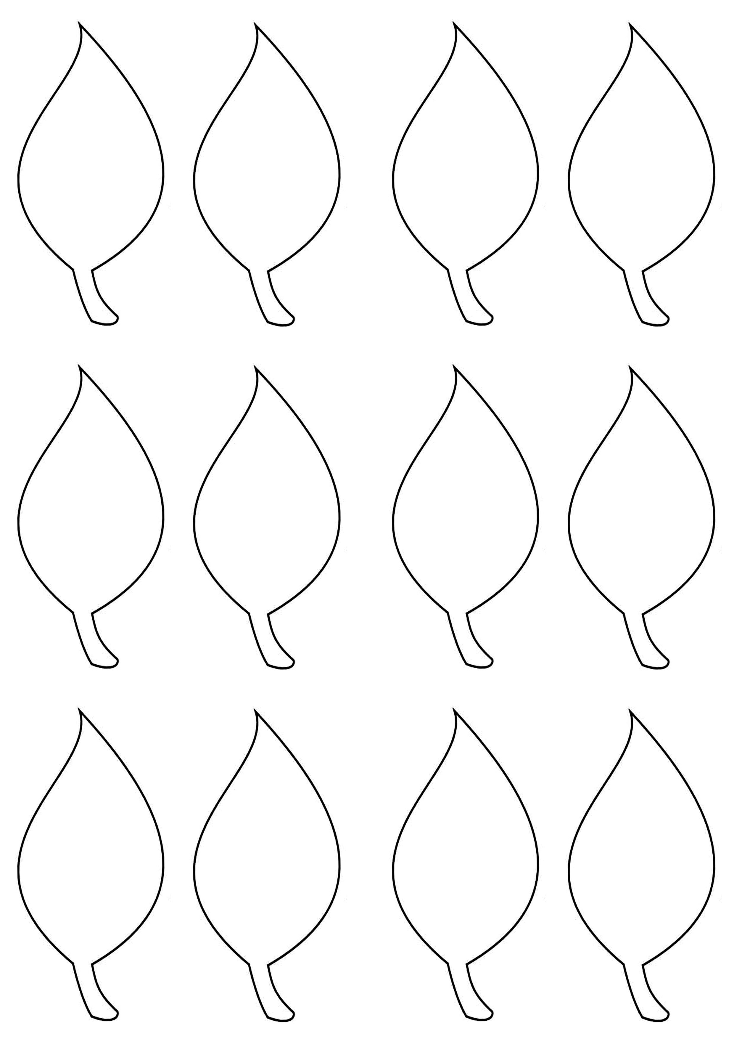 Leaf Template | Easter, Spring & St. Patty's Day | Leaf Template - Free Printable Leaf Template