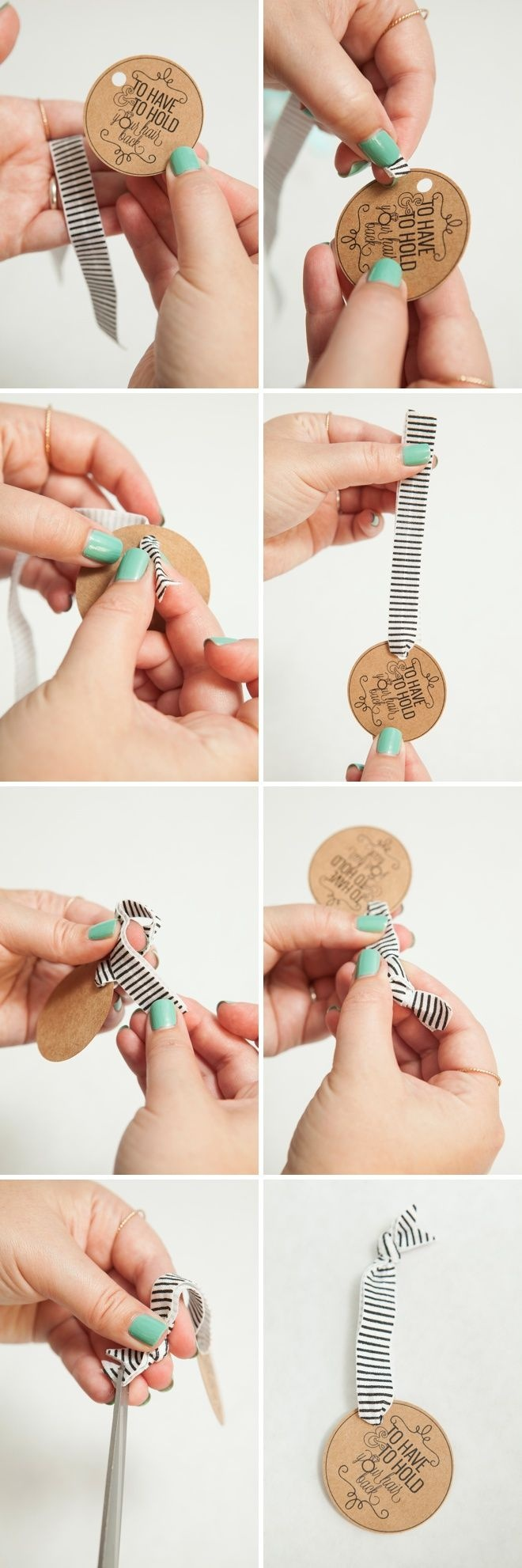 Learn How To Make Elastic Hair Tie Favors! | Creative Wedding - To Have And To Hold Your Hair Back Free Printable