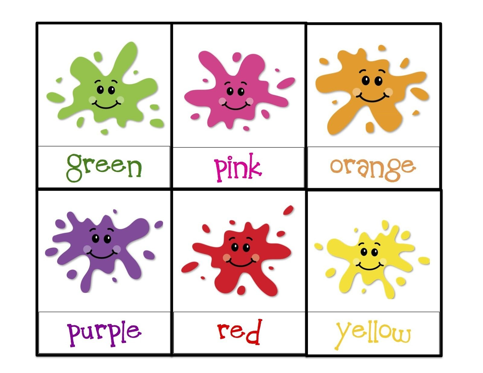 Learning Colors Printable   Children's Activities   Toddler Color - Color Recognition Worksheets Free Printable