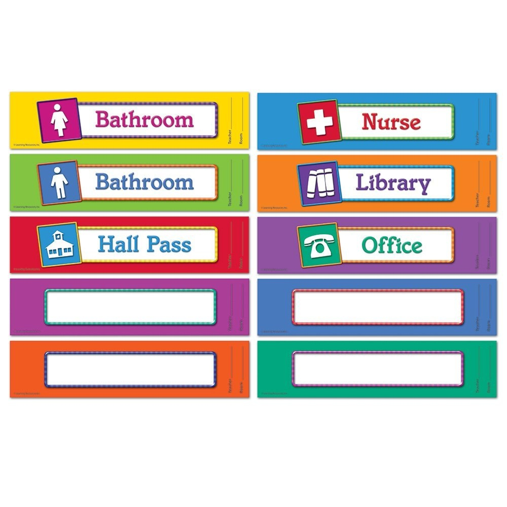 Learning Resources Hall Passes Board - Walmart - Free Printable Hall Pass Template