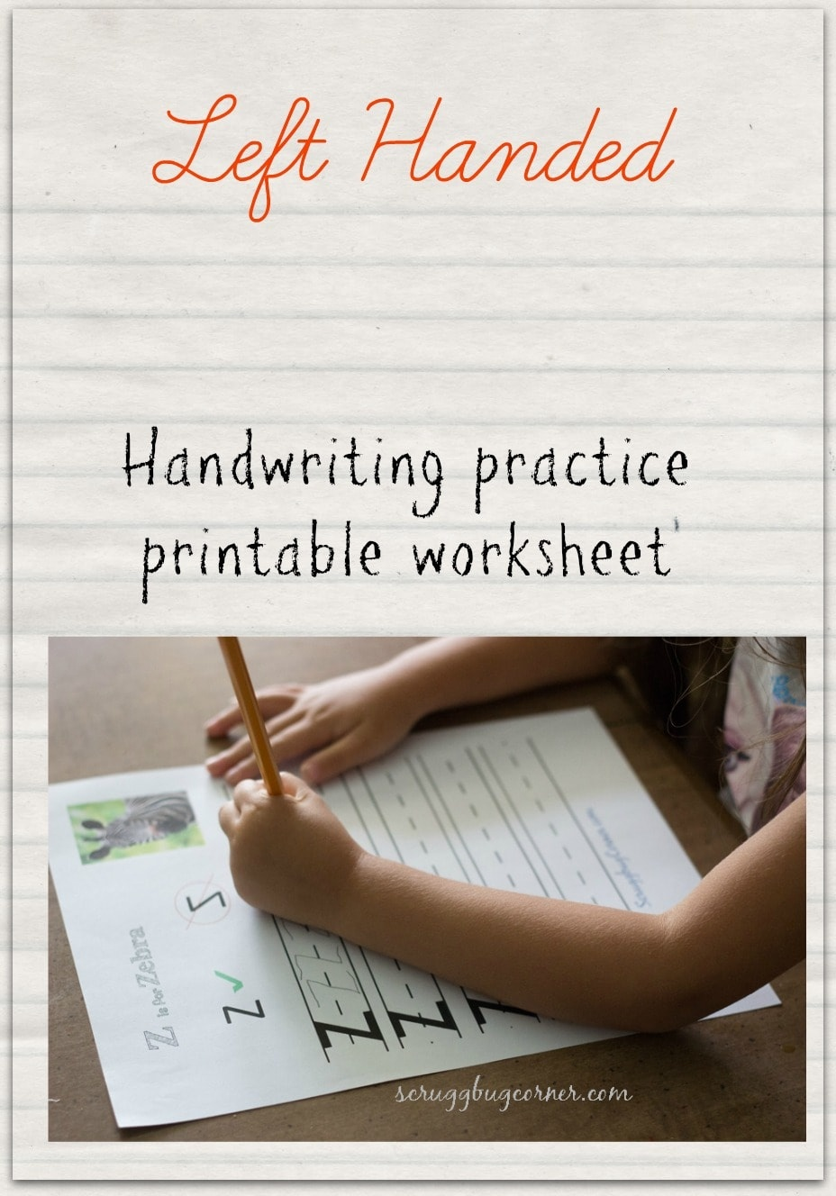 Left Handed Learning: Letter Practice Worksheet Z - Gym Craft Laundry - Free Printable Left Handed Worksheets