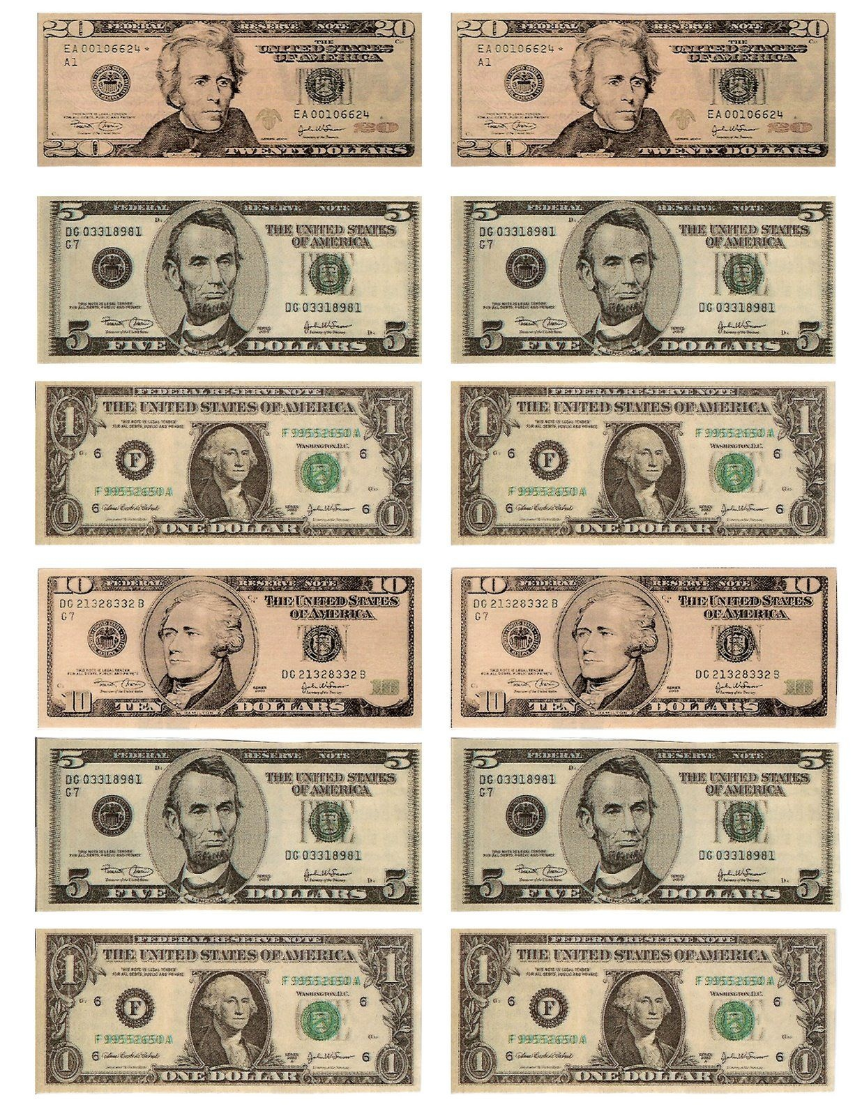 Legal, Free, Printable Money For Teaching The Kids About American - Free Printable Australian Notes