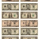 Legal, Free, Printable Money For Teaching The Kids About American   Free Printable Dollar Bill Template