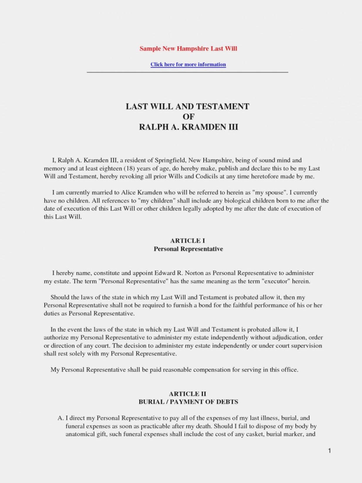 Legal Will Template Printable Last And Testament Unique Australia - Free Printable Codicil Form