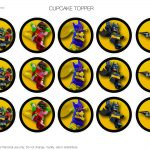 Lego Batman Cupcake Topper   Birthday Buzzin   Free Printable Lego Batman