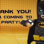 Lego Batman Thank You Cards   Lego Party   Pinterest   Feestje En Lego   Free Printable Lego Batman