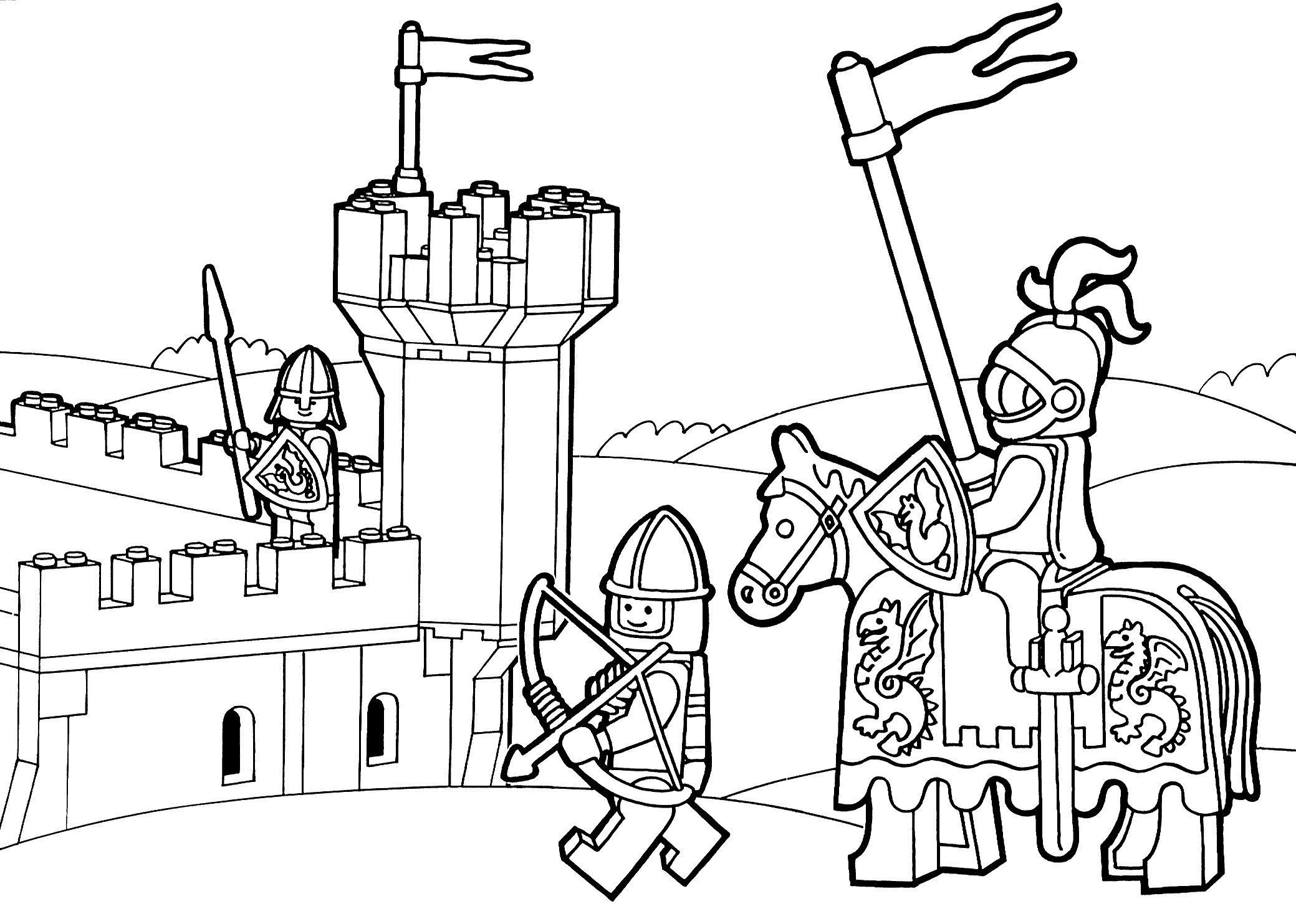 Lego Duplo Knights Coloring Page For Kids Printable Free Lego - Free Printable Pictures Of Knights