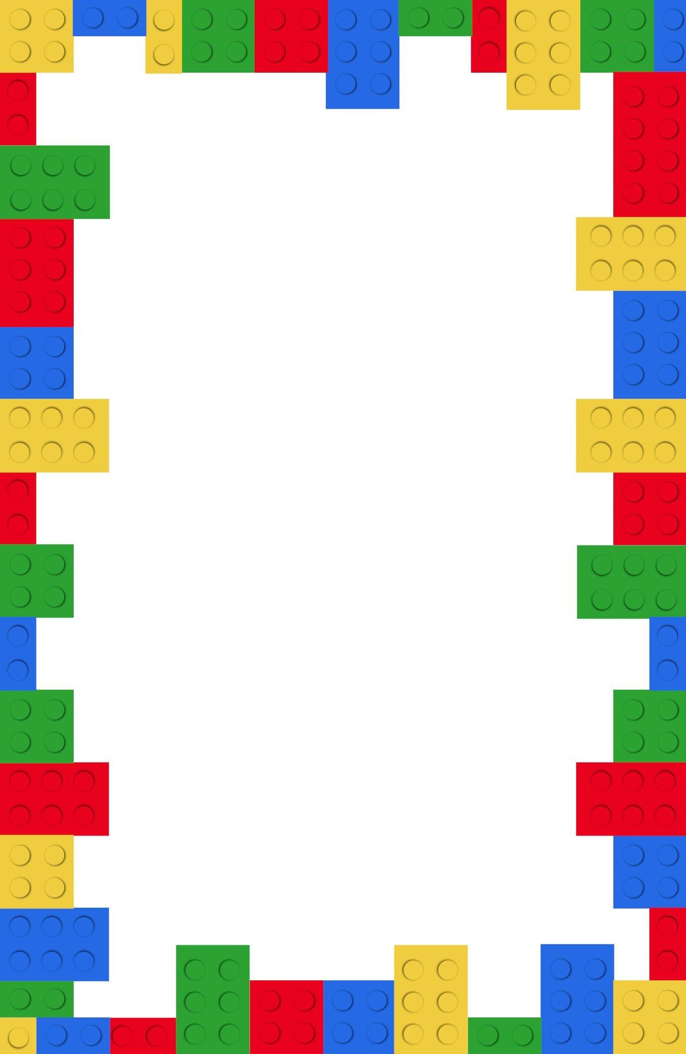 Lego-Invitation-Blank In 2019 | Brian | Birthday Invitations Kids - Lego Party Invitations Printable Free
