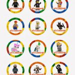 Lego Movie Cupcake Toppers   Free Printables, Also Has Peppa Pig   Free Printable Lego Cupcake Toppers