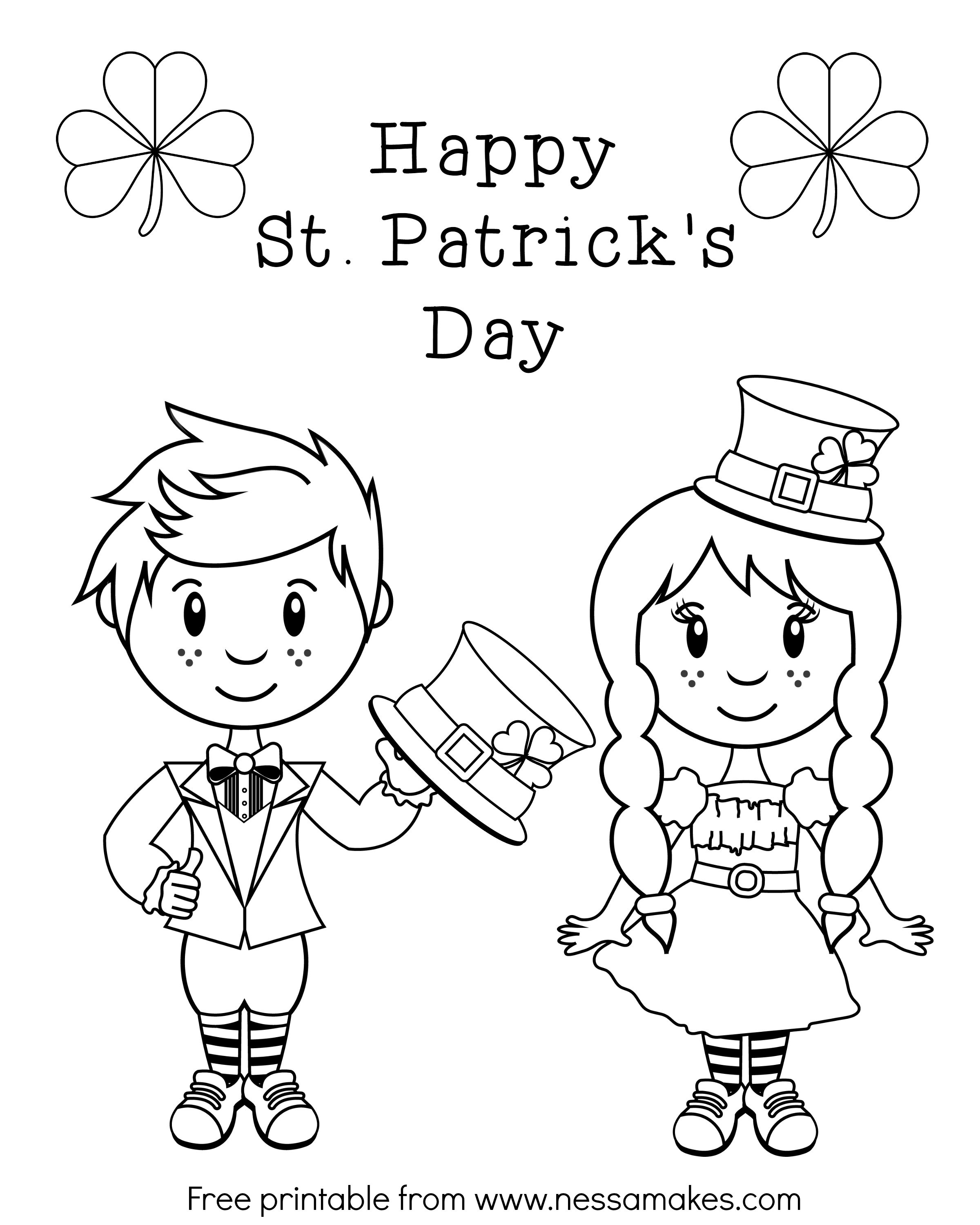 Leprechaun Coloring Pages Leprechaun Coloring Pages Girl Free For - Free Printable Saint Patrick Coloring Pages