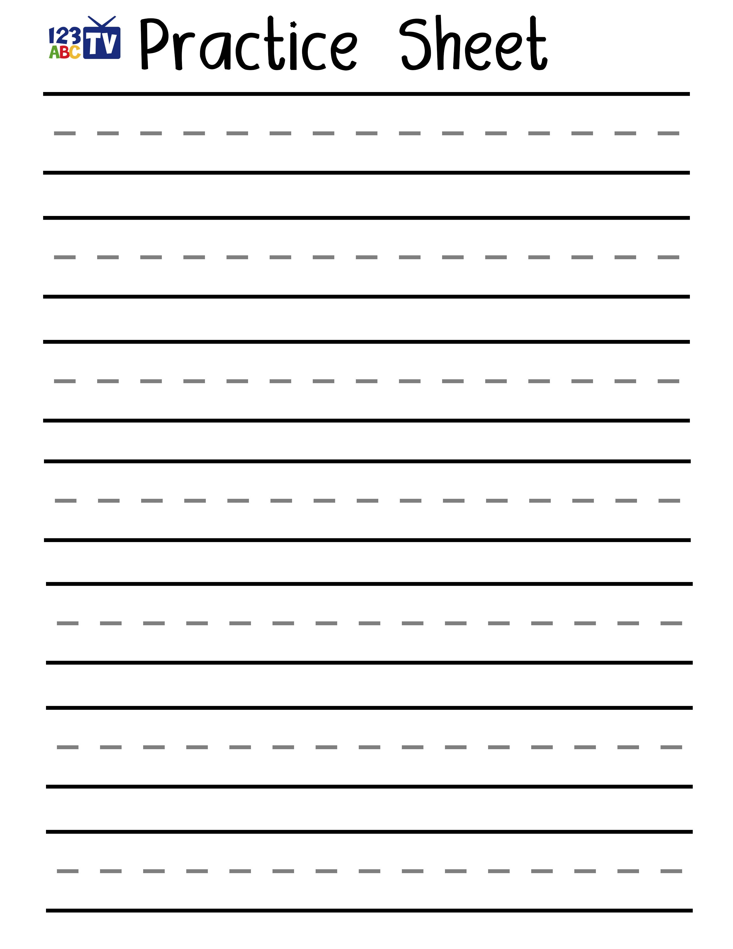Letter A - Practice Handwriting Downloads | 123Abc Tv - Free Printable Practice Name Writing Sheets