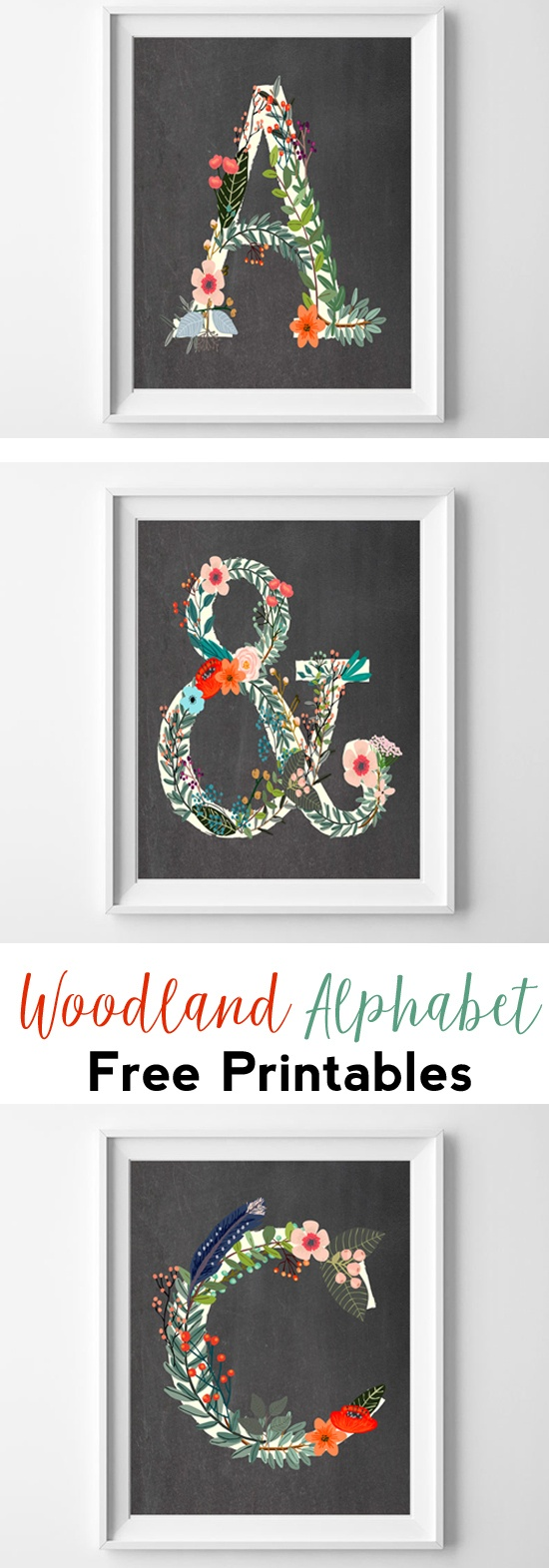 Letter Art {Woodland Alphabet Free Printables} - All Crafty Things - Free Printable Photo Letter Art