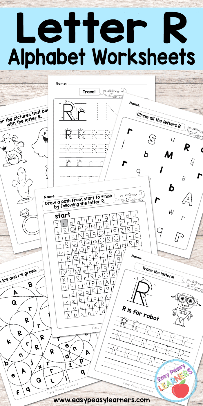 Letter R Worksheets - Alphabet Series - Easy Peasy Learners - Free Printable Preschool Worksheets For The Letter R