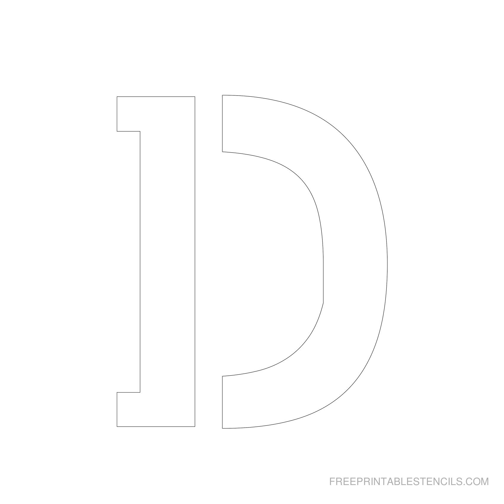Letter Stencils To Print   Free Printable Stencils - Free Printable 10 Inch Letter Stencils
