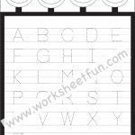 Letter Tracing Worksheet – Capital Letters / Free Printable   Free Printable Alphabet Tracing Worksheets For Kindergarten