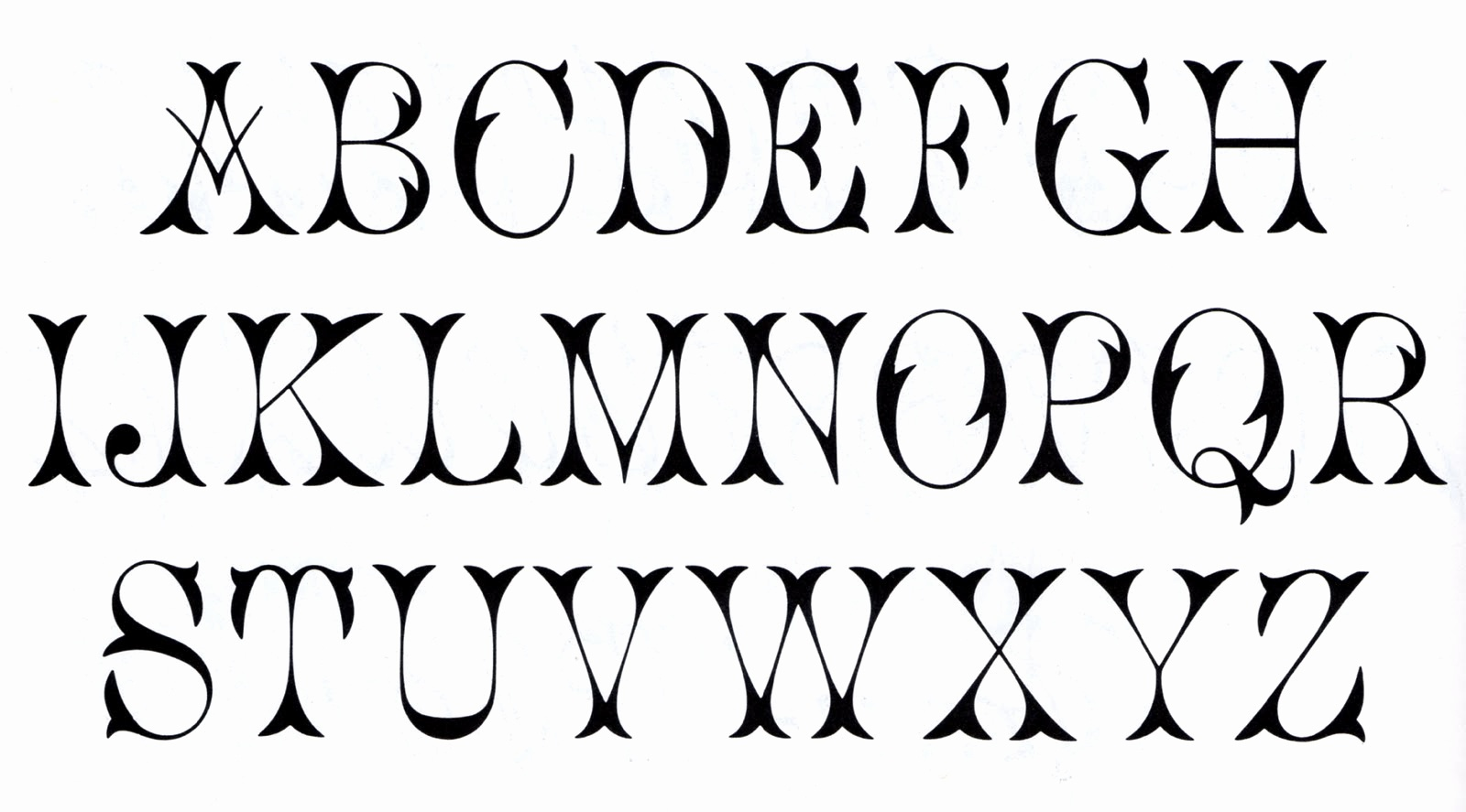 Letterhead Fonts Free 6 Best Images Of Free Printable Alphabet - Free Printable Fonts
