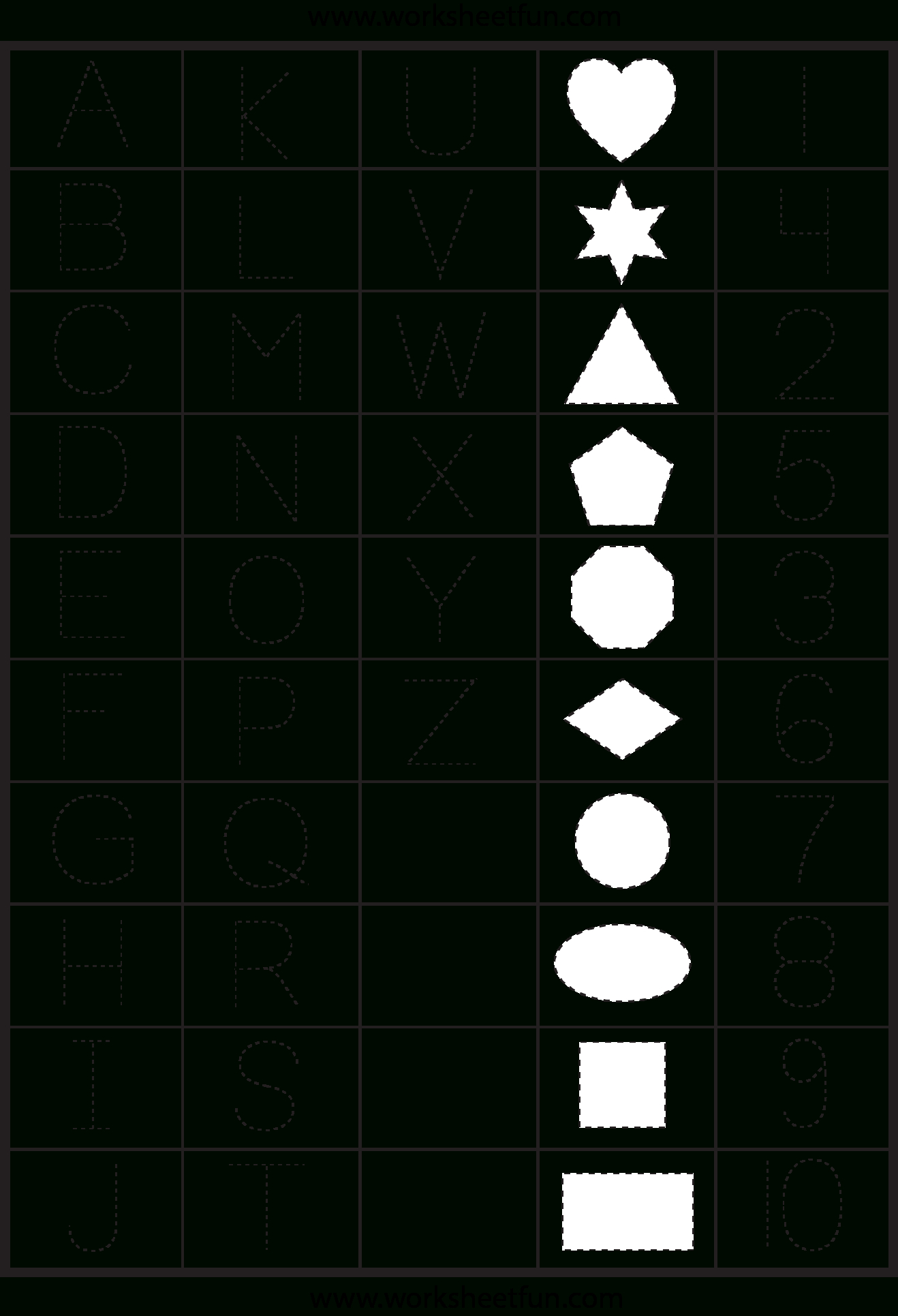 Free Printable Tracing Letters And Numbers Worksheets ...