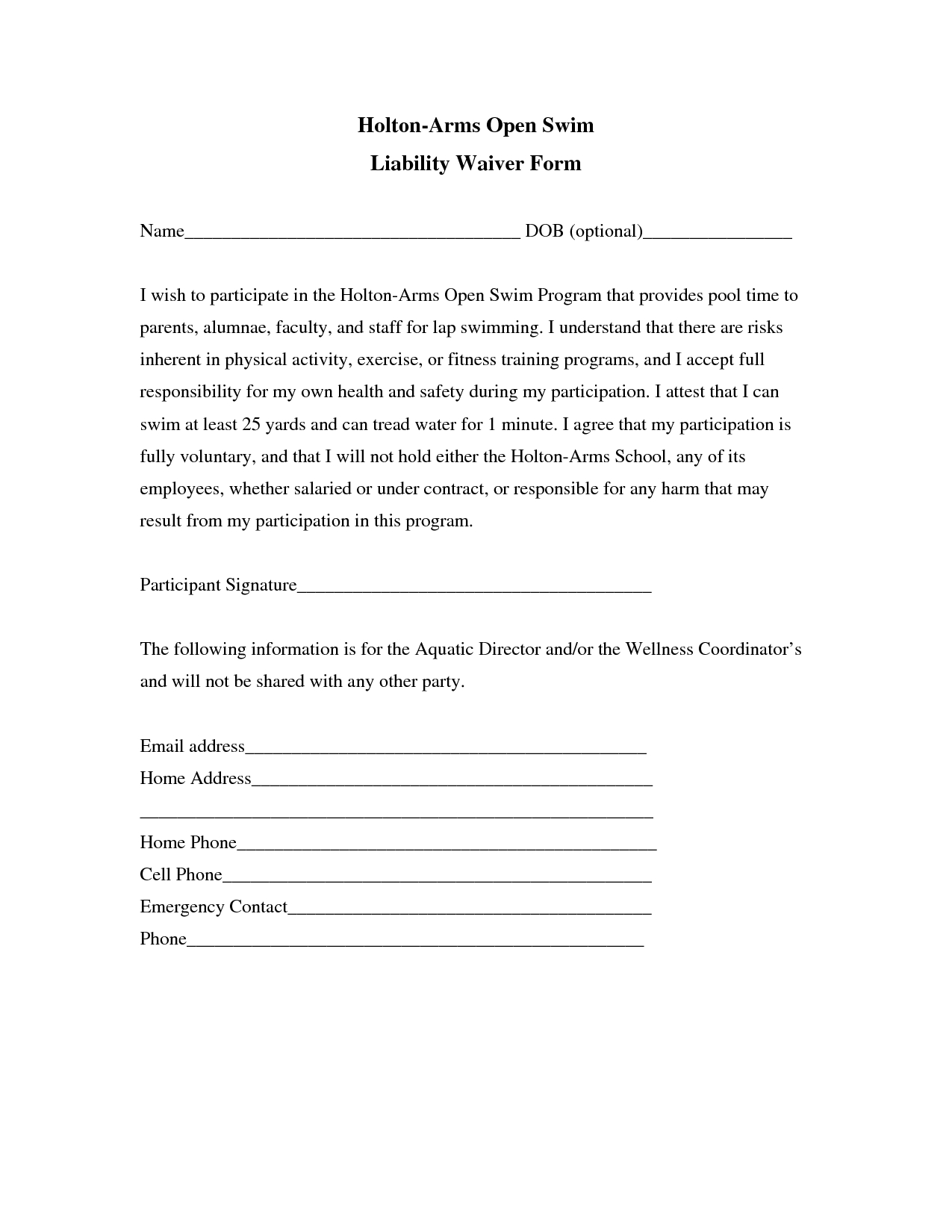 Liability Insurance: Liability Insurance Waiver Template - Liability - Free Printable Photo Release Form