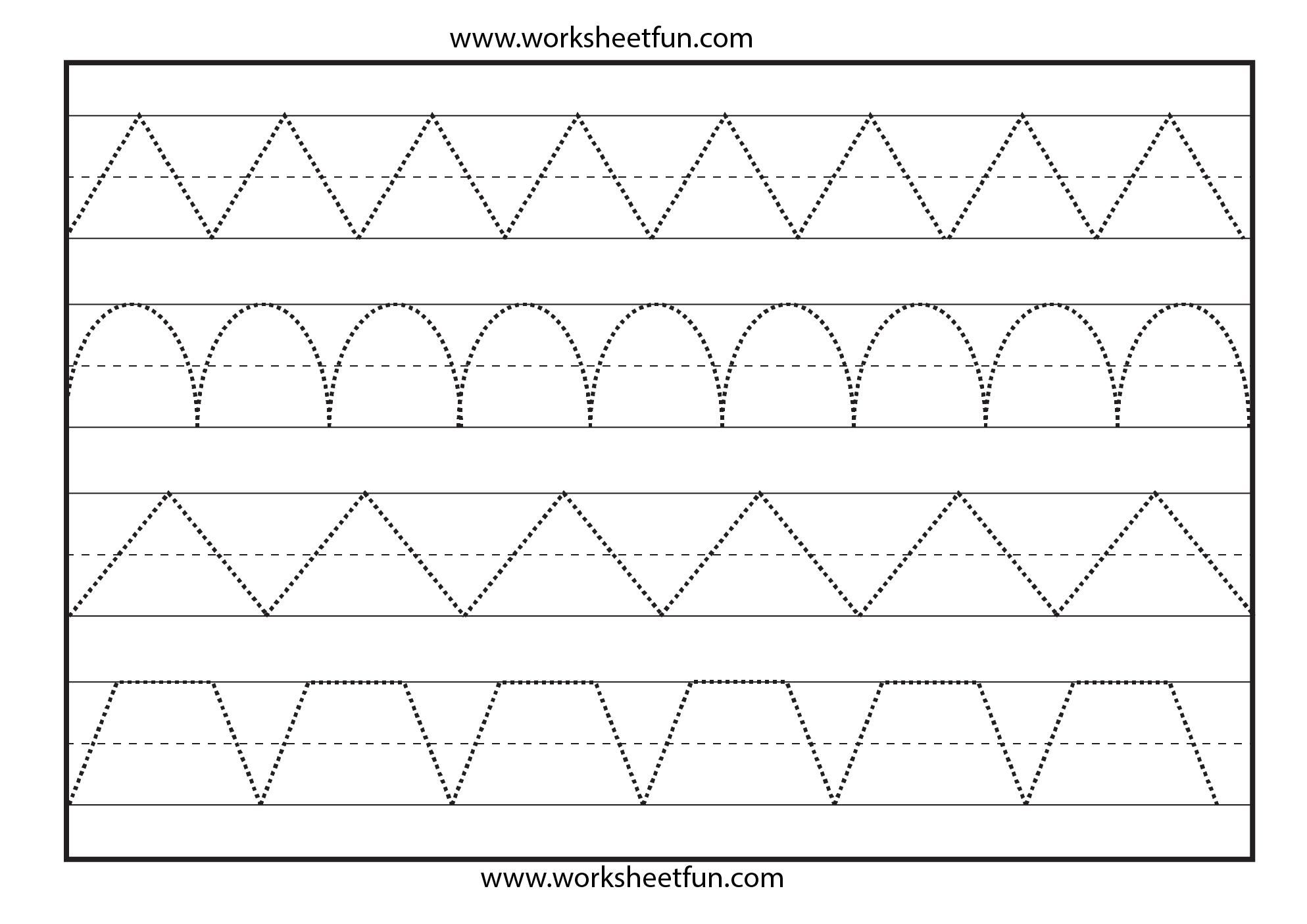 Line Tracing Worksheet - Kaza.psstech.co - Preschool Writing Worksheets Free Printable