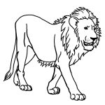 Lion Free To Color For Children   Lion Kids Coloring Pages   Free Printable Picture Of A Lion