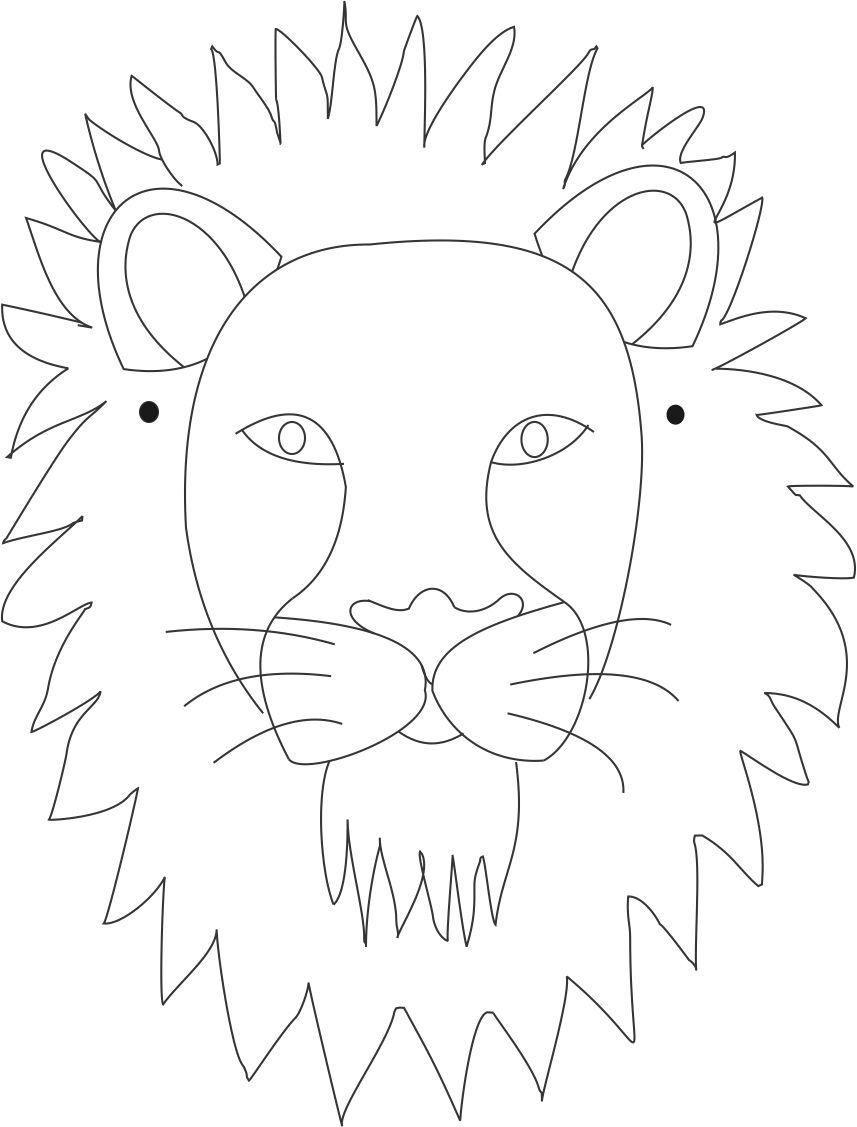 Lion Mask Printable Coloring Page | Lion King Bday | Pinterest - Free Printable Lion Mask