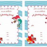 Little Mermaid Free Printable Birthday Party Invitations | Birthday   Free Little Mermaid Printable Invitations