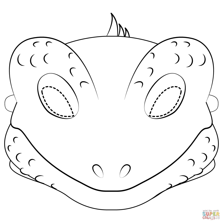 Lizard Mask Coloring Page   Free Printable Coloring Pages - Free Printable Lizard Mask