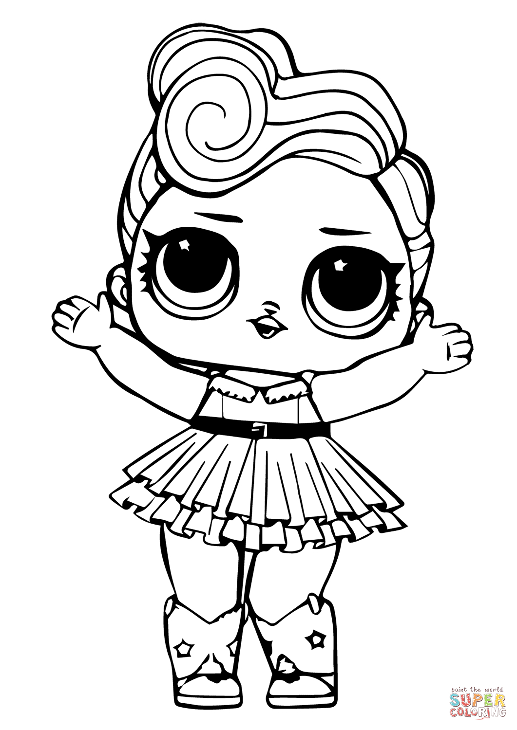 Lol Doll Luxe Coloring Page | Free Printable Coloring Pages | Lol - Free Printable Coloring Pages For Girls