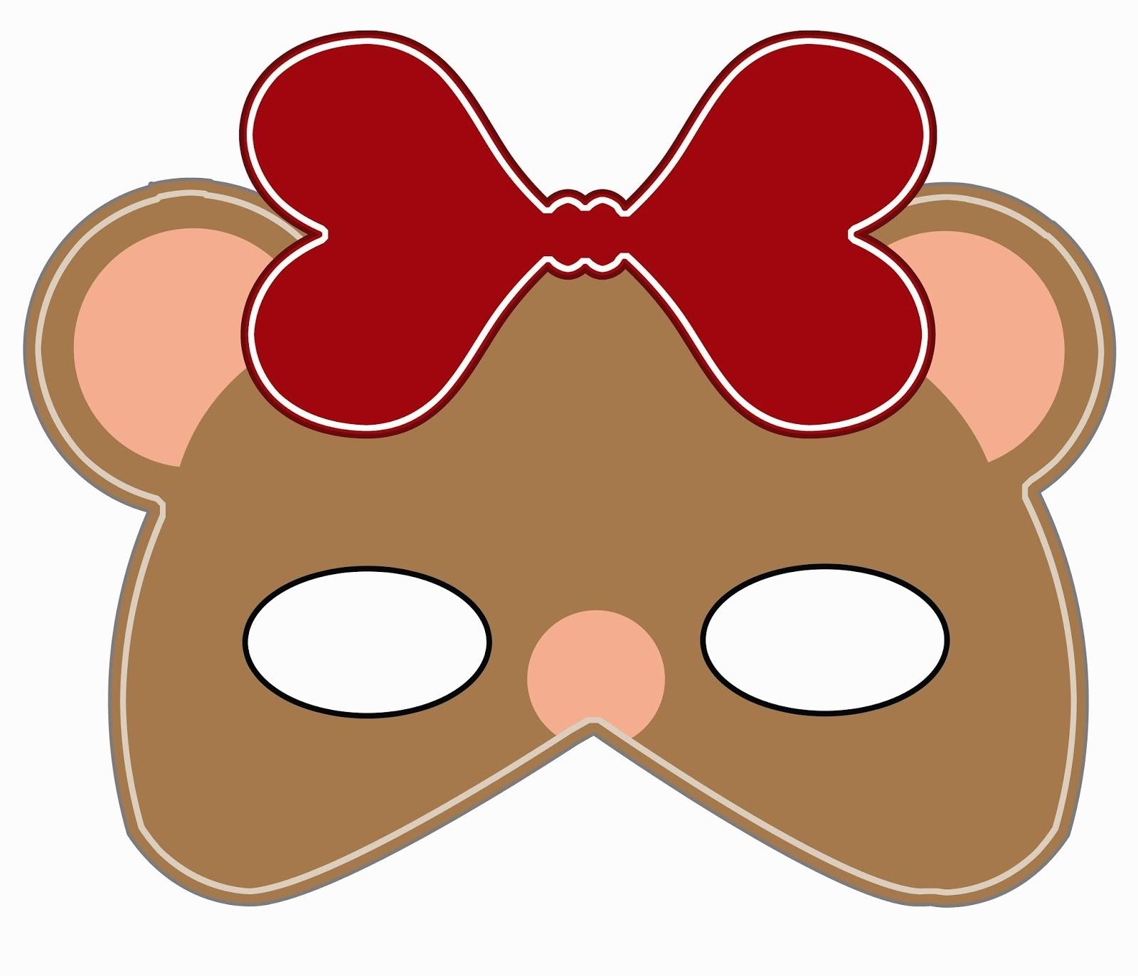 Lomy Design: Teddy Bear Mask - Free Printable Bear Mask