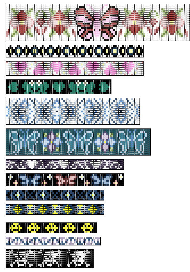 Loom+Beading+Patterns | Native American Split Loom Patterns: Free - Free Printable Bead Loom Patterns