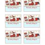 Lori Hairston: Santa Book Plates   Free Printable Christmas Bookplates