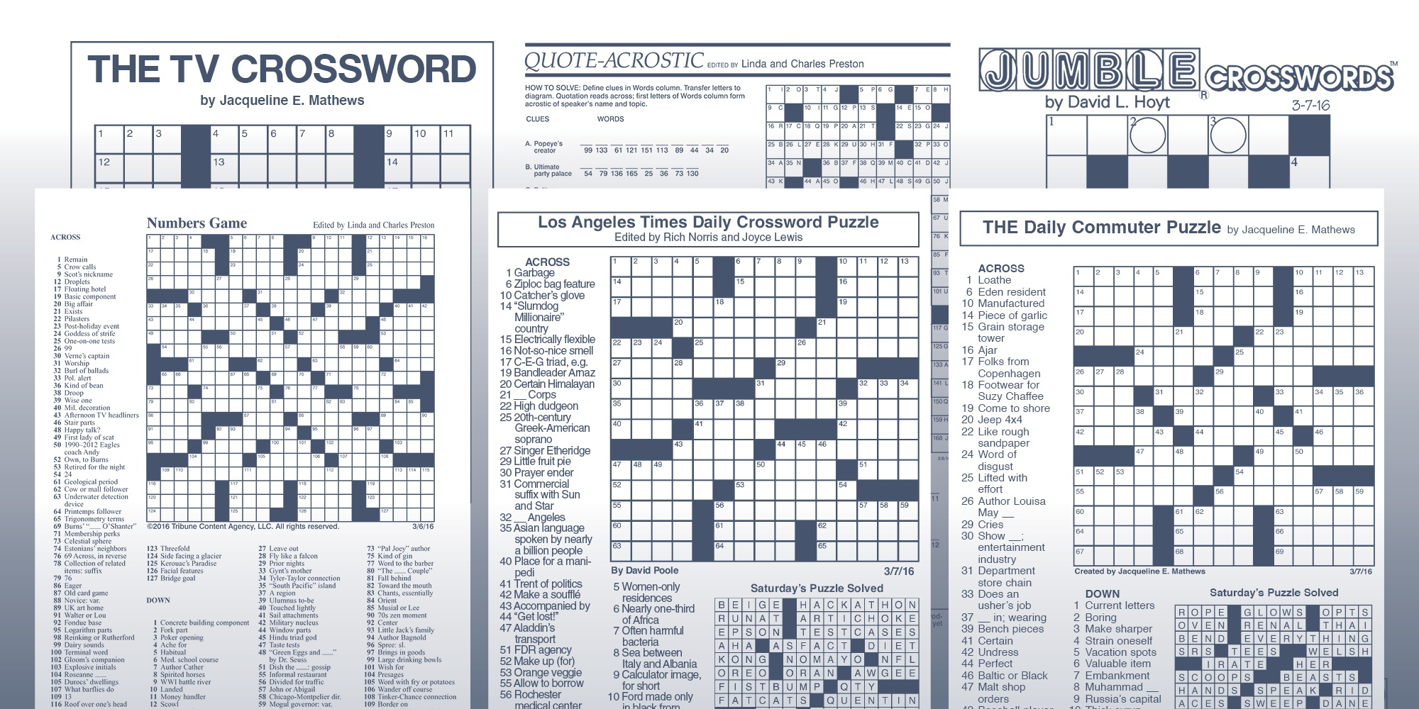 Los Angeles Times Sunday Crossword Puzzle | Tribune Content Agency - Free La Times Crossword Printable