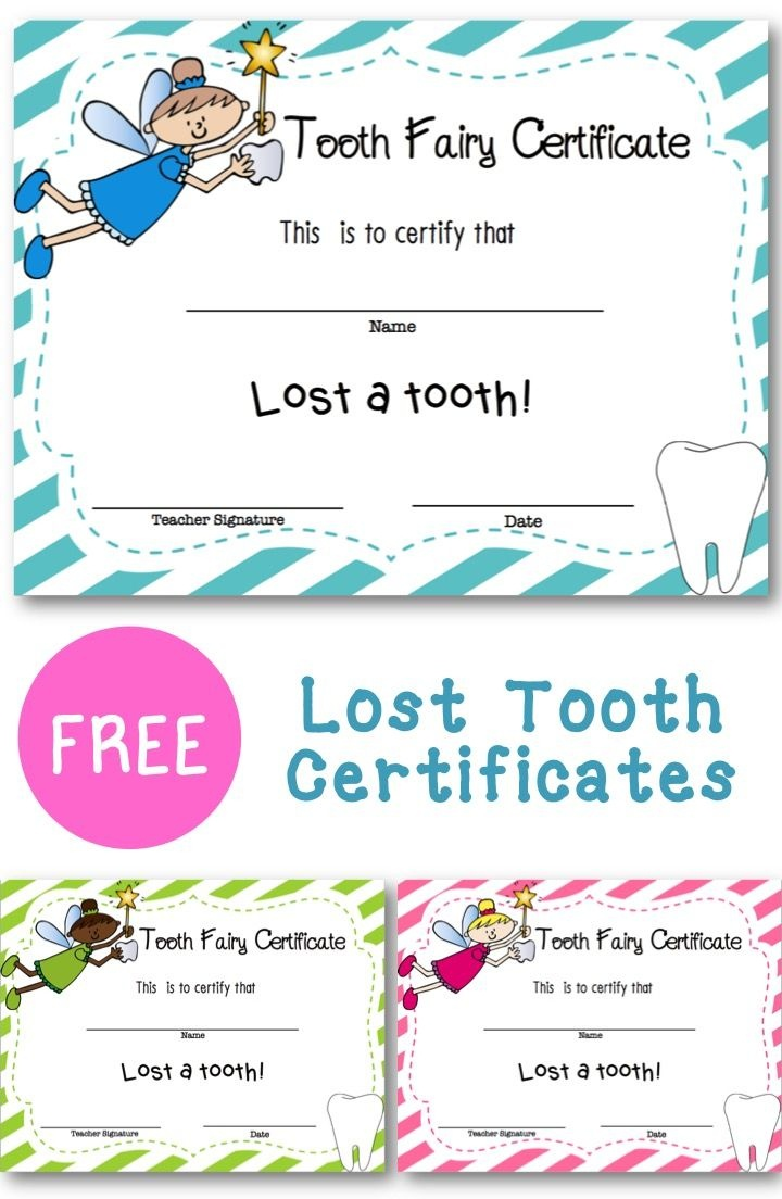 Lost Tooth Certificate | New England Teacher | Teaching First Grade - Free Printable First Lost Tooth Certificate