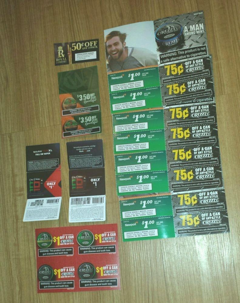 Lot Cigarette And Chewing Tobacco Coupons Newport Copenhagen Dip - Free Printable Copenhagen Coupons
