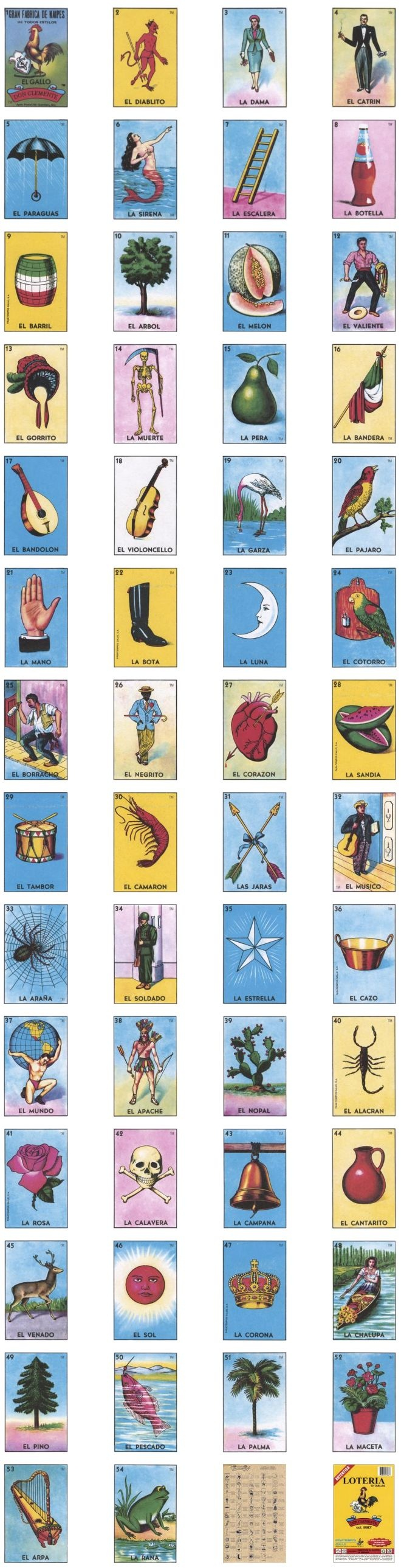 Loteria Cards Printable (91+ Images In Collection) Page 1 - Loteria Printable Cards Free