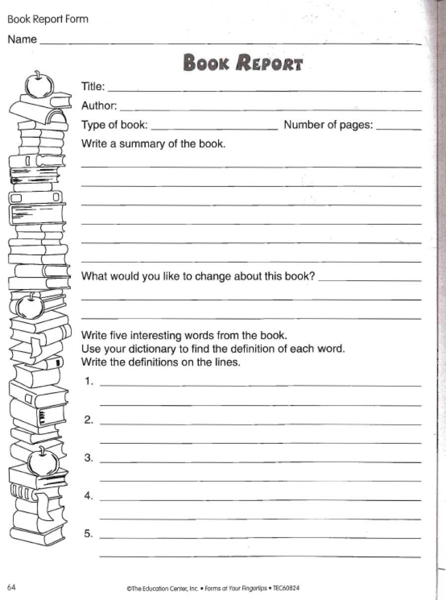 Love To Teach | Book Report Worksheet | Teacher, Student, And Parent - Free Printable Book Report Forms For Elementary Students