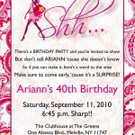 Lovely Free Printable Surprise Birthday Invitations Template | Best   Free Printable Surprise 40Th Birthday Party Invitations