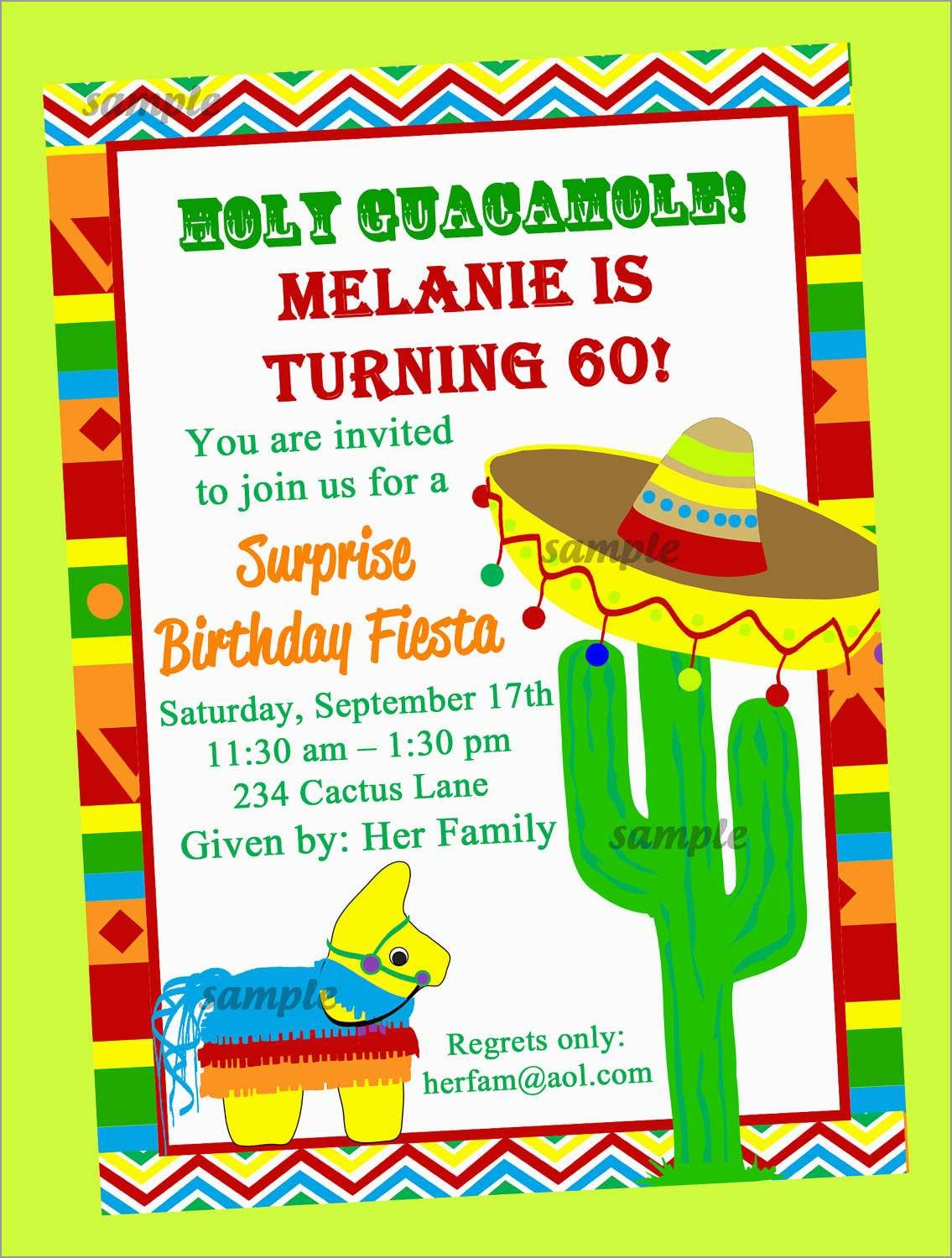 Lovely Mexican Fiesta Invitation Templates Free | Best Of Template - Free Printable Fiesta Invitations