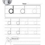 """Lowercase Letter """"d"""" Tracing Worksheet   Doozy Moo   Free Printable Alphabet Tracing Worksheets"""