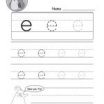 "Lowercase Letter ""e"" Tracing Worksheet   Doozy Moo   Free Printable Alphabet Tracing Worksheets For Kindergarten"