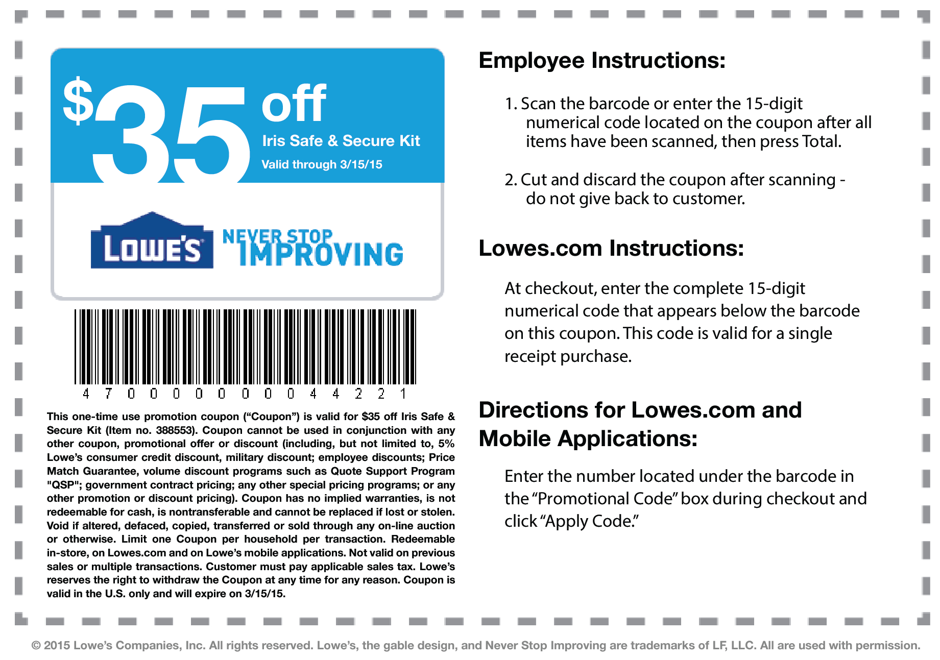 Lowes Coupons – Download & Print - Lowes Coupon Printable Free