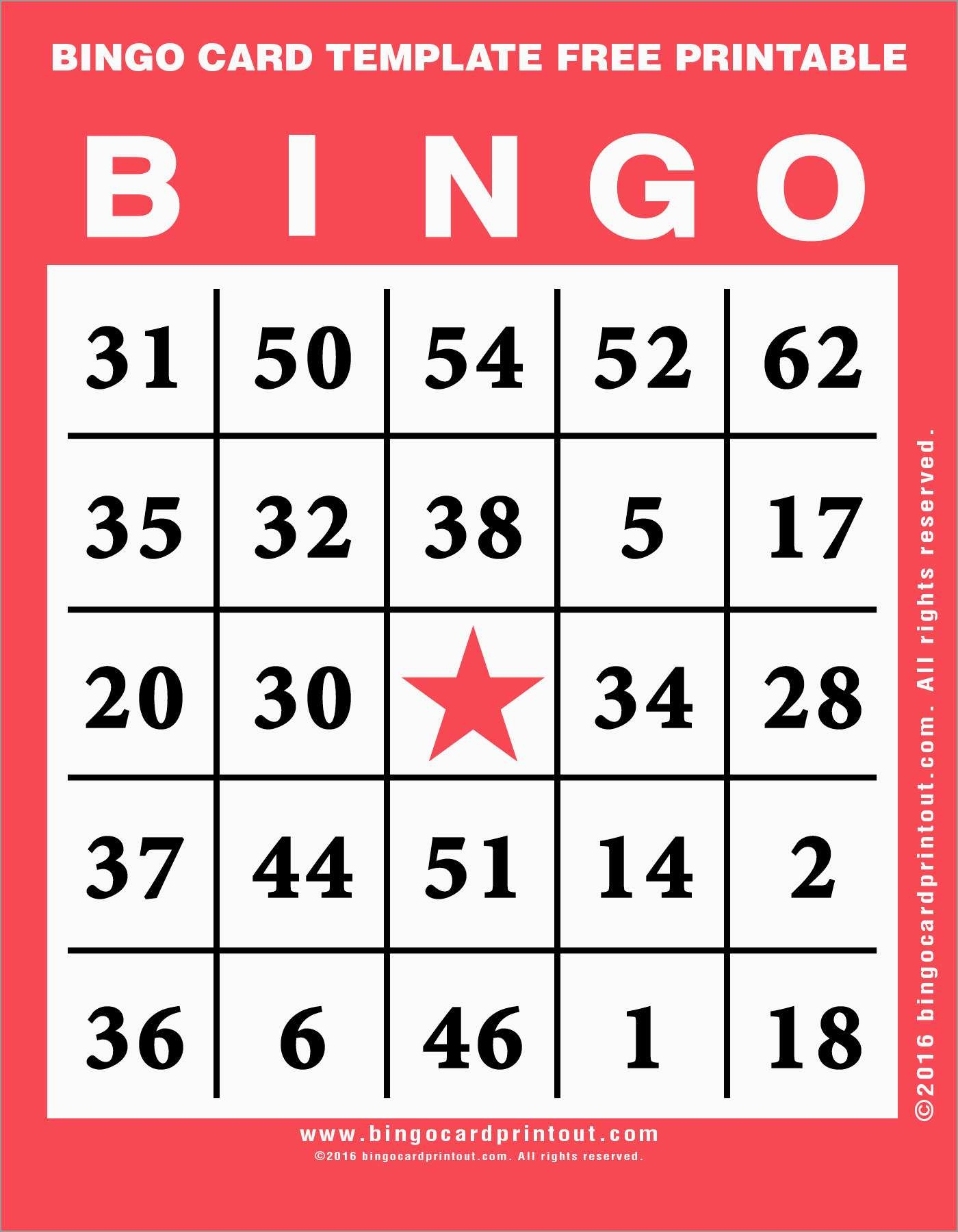 Luxury Bingo Card Template Free | Best Of Template - Free Printable Bingo Cards 1 75