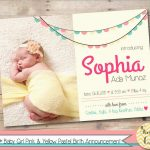 Luxury Birth Announcement Template Free Printable   Best Of Template   Free Printable Baby Announcement Templates